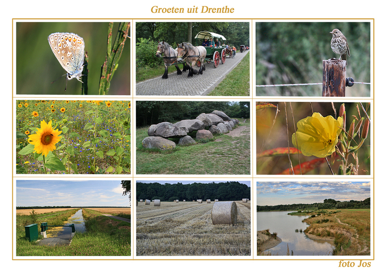 Groeten uit Drenthe - 'n impressie van het landschap rondom Schoonloo en Grolloo. Ieder bedankt voor de reacties op mijn vorige upload. gr.jos