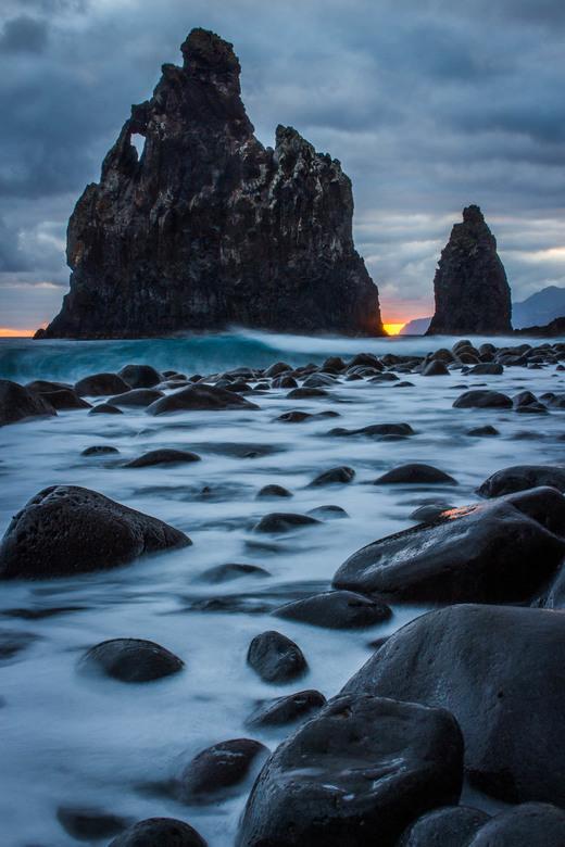 Ilheus da Rib, Madeira tijdens zonsopkomst