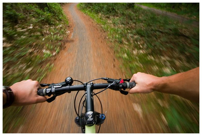 Mountainbiking - Eentje tijdens het mountainbiken