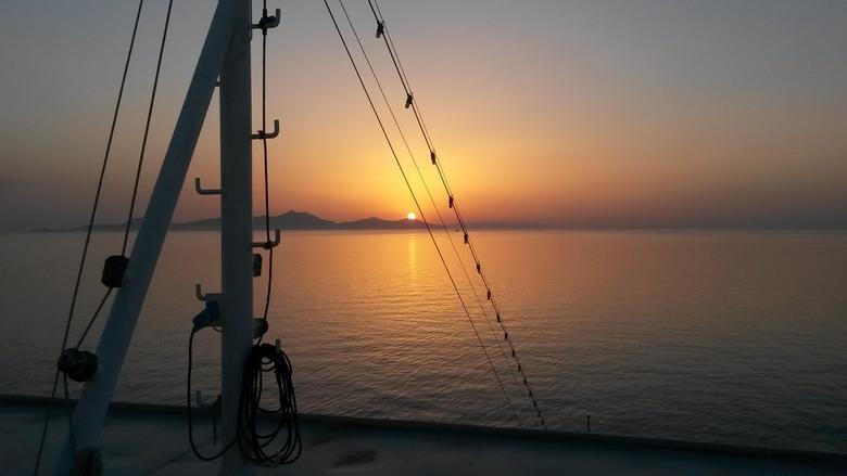Zonsondergang-Santorini -