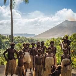 Poseren voor de vulkaan