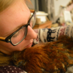 Kerrie slaapt het liefst bij me