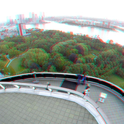 Euromast Rotterdam 3D GoPro anaglyph stereo