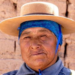 Indianen-vrouw Salinas Grandes, Argentinie