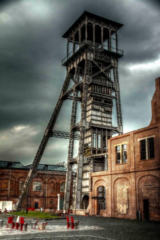 schacht c-mine belgie - Schachttoren c-mine belgie