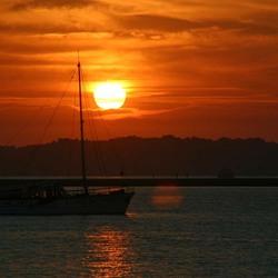 Zonsondergang in de Algarve