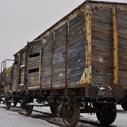 Oude trein in Montzen Gare