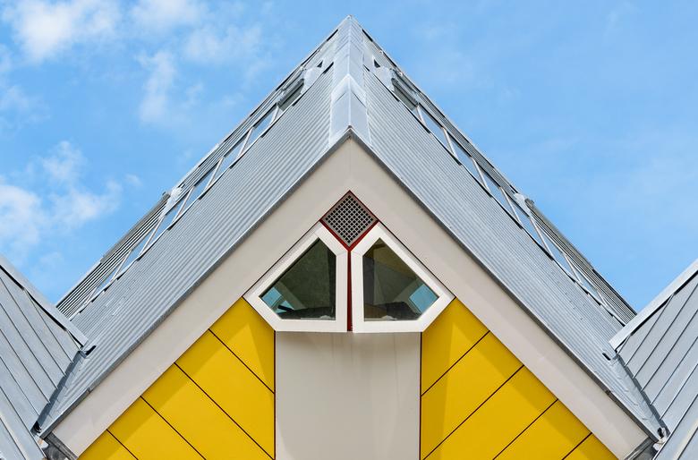 Roof - De Kubuswoningen in Rotterdam van architect Piet Blom zijn heel bekend. Hoewel het project er al meer dan 35 jaar staat wordt het nog steeds dr