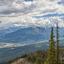 vergezicht van Kicking Horse Mountain