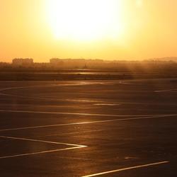 Zonsopgang @ Airport Tunis Carthage