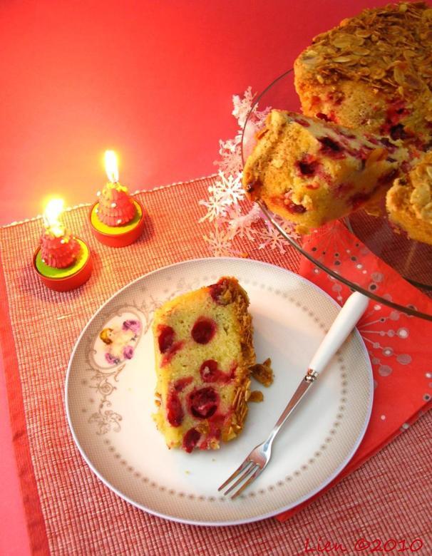 cranberry cake - Koude dagen, warm en gezellig binnen.<br />