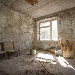 Prypiat (verdrijvingszone Tsjernobyl - Oekraïne) - Wachtkamer in ziekehuis
