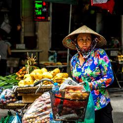 Het straatleven in Hanoi, Vietnam
