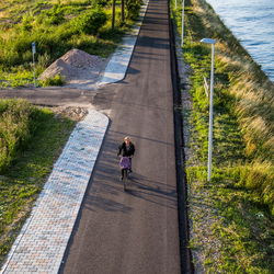 hoe sterk is de eenzame fietser......