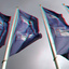 Vlaggen Rotterdam Centraal Station 3D