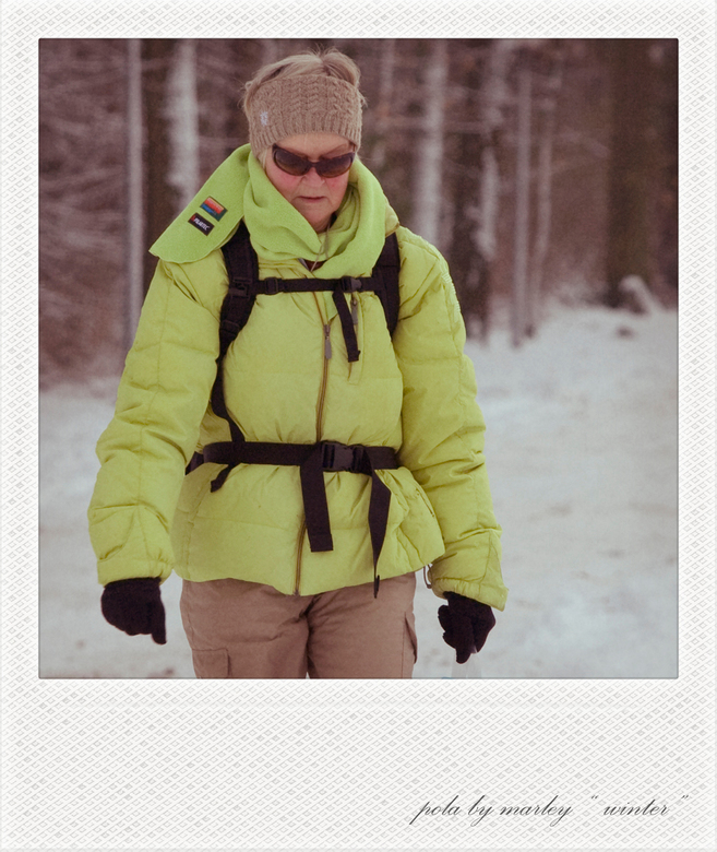 "Pola art ""winter"" - @@ uit de serie pola's @@"