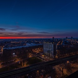 Rotterdam bij zonsopkomst
