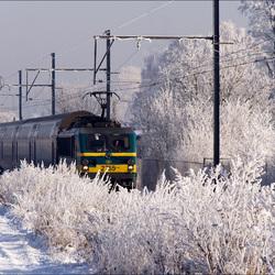 Met kracht door het ijzige landschap