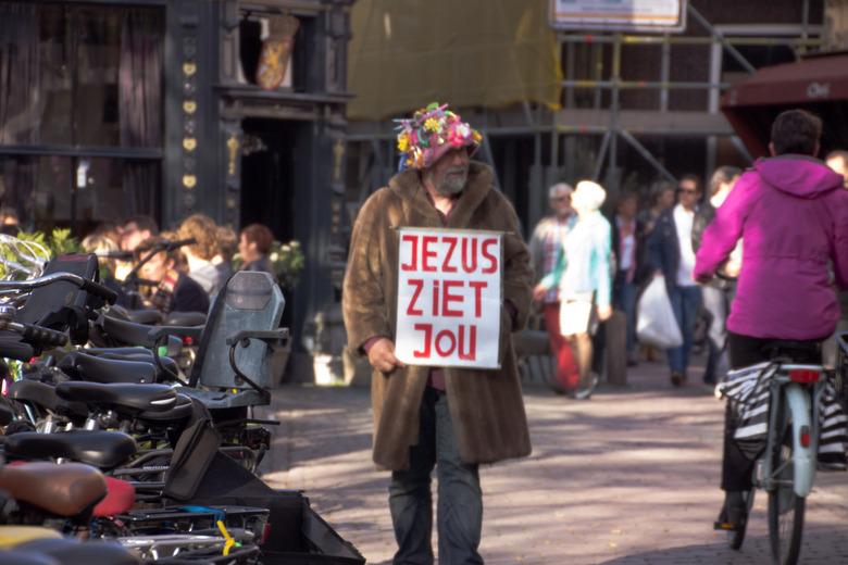 Jezus ziet jou... - Helaas niet helemaal scherp.