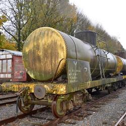 Wagon op verlaten spoor