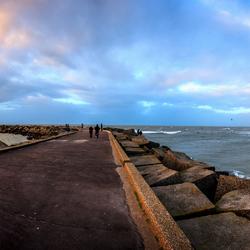 Scheveningen havenhoofd panorama tot aan de pier