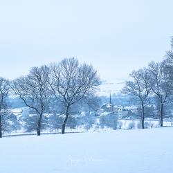 Sneeuwlandschap rondom Vaals.