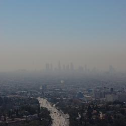 De smog over Los Angeles