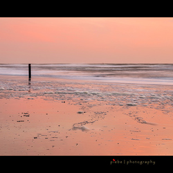 Pink sunset at Texel