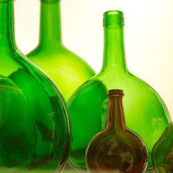Flessen in licht