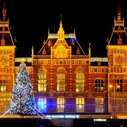 Amsterdam bij nacht 'Centraal Station