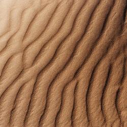 Ribbels in zand