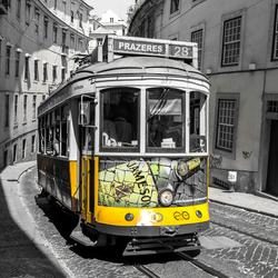 Tramlijn 28 in Lissabon