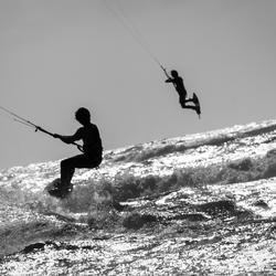 Actie op zee bij windkracht 6!!!