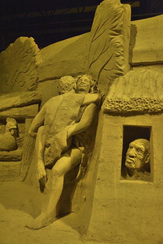 Zandsculpturenfestival in Zuidlaren. - Sculpturepark in Zuidlaren.<br /> Met als onderwerp: De Hondsrug verbeeldt.<br /> <br /> Zie ook www.sculptu