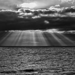 wolkenlucht boven de Waddenzee