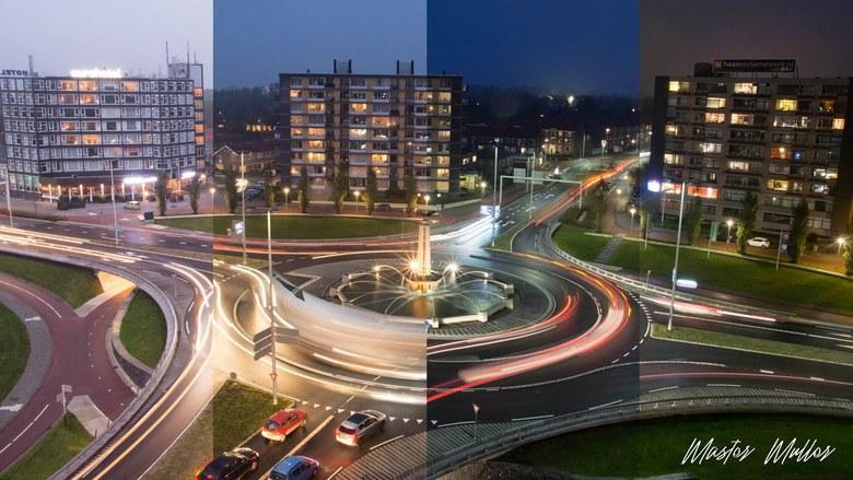 When night falls - Tien minuten sprongen tussen de foto's, en verbazingwekkend hoe groot de verschillen dan al zijn.