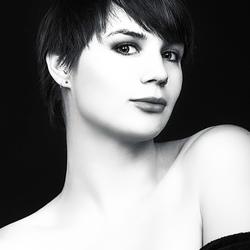 portret in zwart en wit