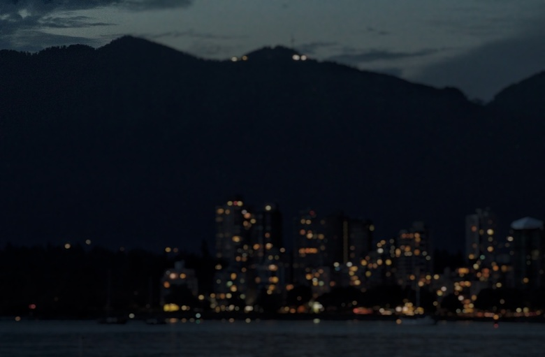 Vancouver skyline by night -