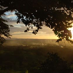 Zonsondergang in Rincon de la Vieja
