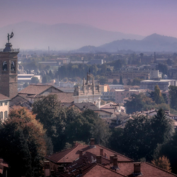 From the walls of Bergamo