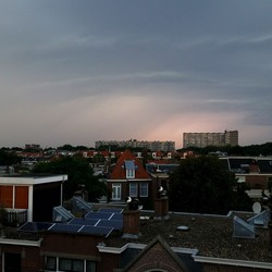 Onweer/regen front