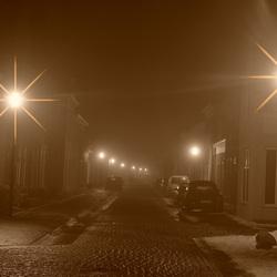 Mistig straatje