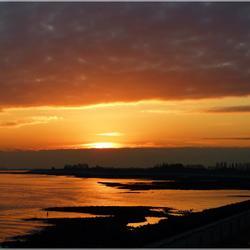 Zonsondergang....