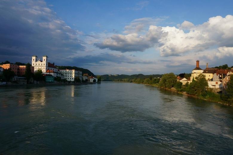 River Inn bij Passau - Avondstemming