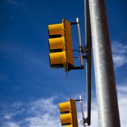Verkeerslichten in perspectief