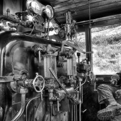 Brecon Mountain Railway in b/w hdr