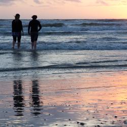 Zonsondergang bij Zandvoort - C