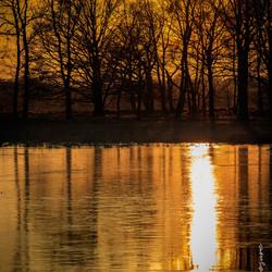 zonsondergang Haaksbergerveen