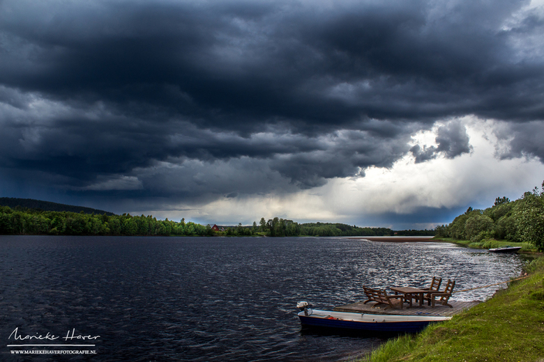 Onweer in Zweden - Onweerslucht in Zweden