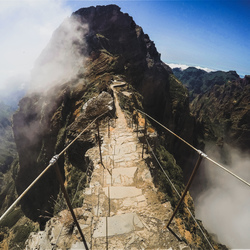 Mountain ridge bridge